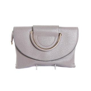 Hadari Women's Day to Night Grey Clutch Bag