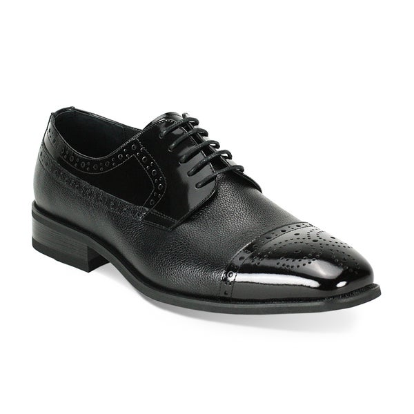 Giorgio Venturi Men's Shoes, Black Oxford