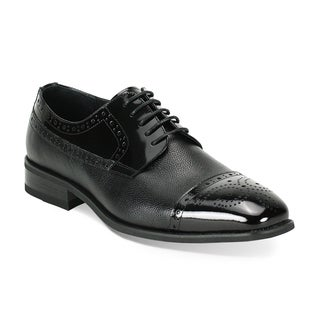 Giorgio Venturi Men's Black Oxford Shoes