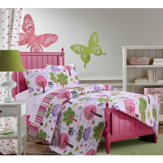 Greenland Home Fashions Woodland Girl Cotton 3-piece Quilt Set