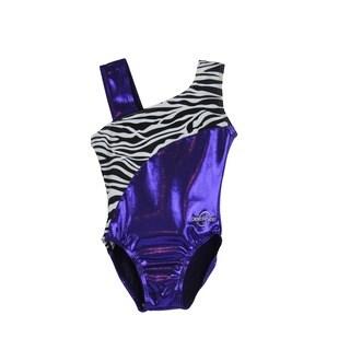 Kids' Purple Zebra Gymnastics Leotard