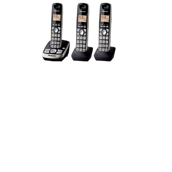 Panasonic KX-TG4223B DECT 6.0 Plus Cordless Phone System with Answering Machine (Refurbished)