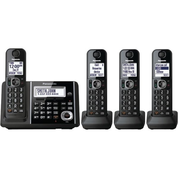 Panasonic KX-TGF344B DECT 6.0 Plus Cordless Landline Phone System (Refurbished)