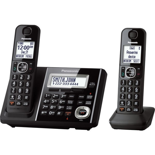 Panasonic KX-TGF342B DECT 6.0 Plus Cordless Landline Phone System (Refurbished)