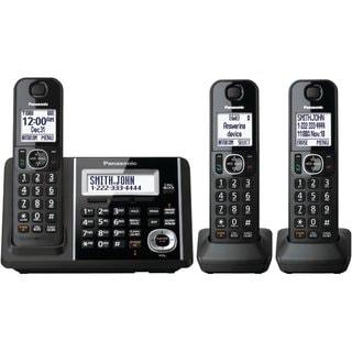 Panasonic KX-TGF343B DECT 6.0 Plus Cordless Landline Phone System (Refurbished)
