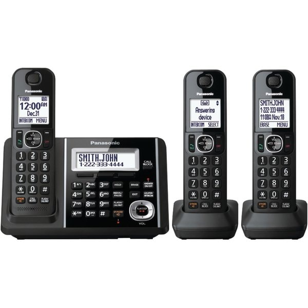 Panasonic KX-TGF343B DECT 6.0 Plus Cordless Landline Phone System (Refurbished)