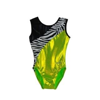 Kids' Lime Zebra Gymnastics Leotard