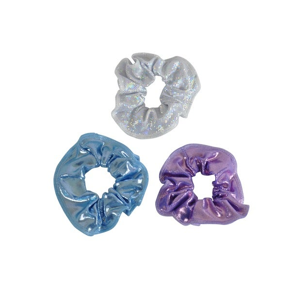 Kids' Lavender/ Cloud/ Silver Hologram Hair Tie (Pack of 3)