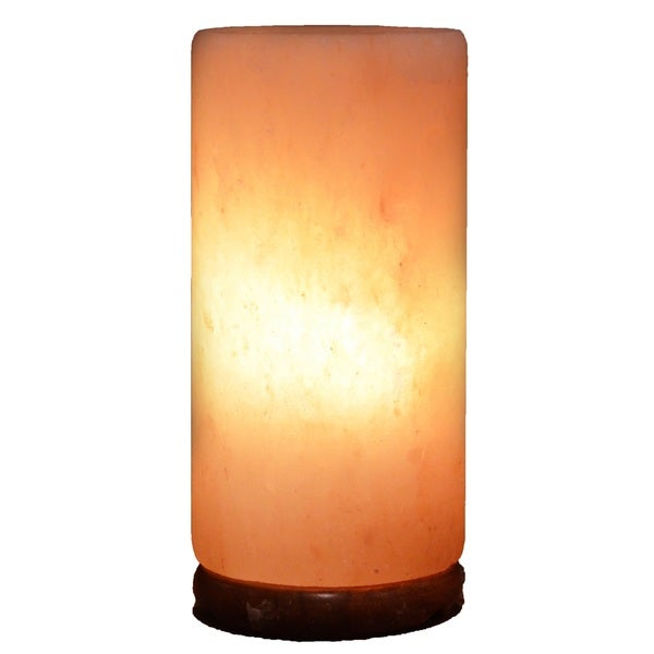 Best Natural Salt Lamps : Cylinder Natural Salt Lamp with Wood Base - 17823274 - Overstock.com Shopping - Top Rated Deluxe ...