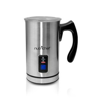 NutriChef PKMFR10 Stainless Steel Electric Milk Frother and Warmer