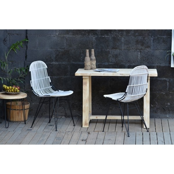 Leo Rattan Chair White