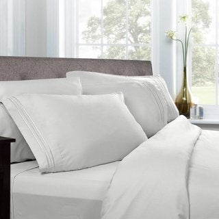 Luxury Solid 5-piece Bed-In-a-Bag with Comforter and Sheet Set