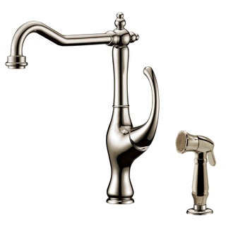 Dawn Brushed Nickel Single-lever Kitchen Faucet with Side-spray