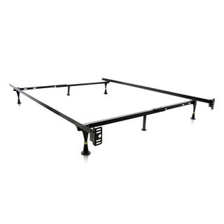 Structures by Malouf Heavy Duty 6-leg Adjustable Metal Full/ Twin Bed Frame with Glides Only