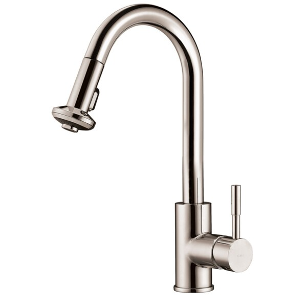 Dawn Brushed Nickel Single-lever Pull-down Spray Sink Mixer