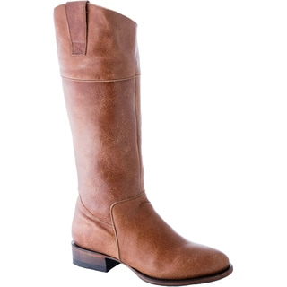 Overstock Exclusive Lane Boots Women's 'Westminster' Tan Leather English Riding Boots