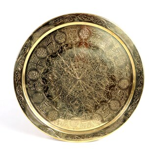 Handcrafted Authentic 19-inch Brass Tray (Tunisia)