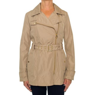 Laundry By Design Tan Belted Zip Parka