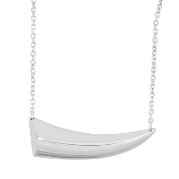 La Preciosa Sterling Silver Shark Tooth Necklace 16622600