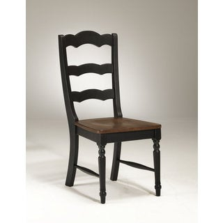 Princeton Black/Walnut Ladderback Side Chair-set of 2