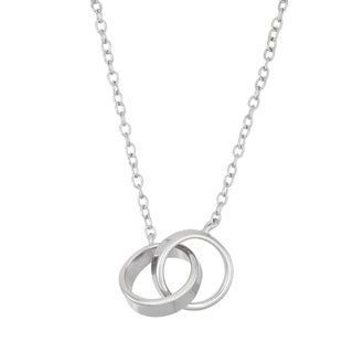 La Preciosa Sterling Silver Interlocking Ring Necklace