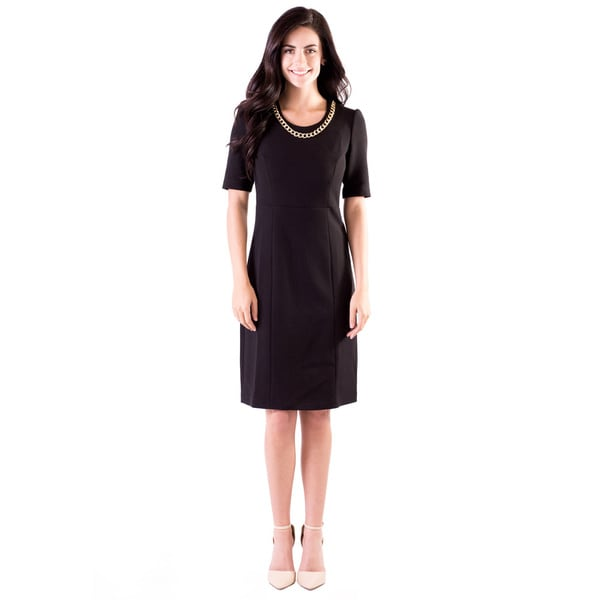 DownEast Basics Women's 3/4 Sleeve Dress
