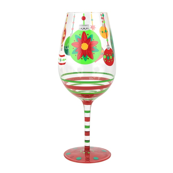 Wine Glass Christmas Ornaments (Set of 4)