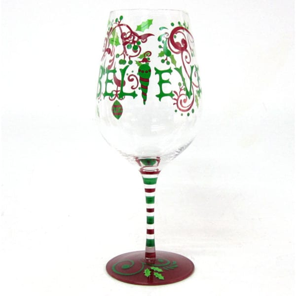 Wine Glass Believe (Set of 4)