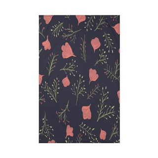 Spring Blooms Floral Print 50 x 60-inch Throw Blanket