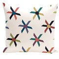 Pinwheel Pop Geometric Print 20-inch Outdoor Pillow
