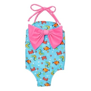 Dippin Daisy's Child's Blue Seahorse One-Piece Swimsuit