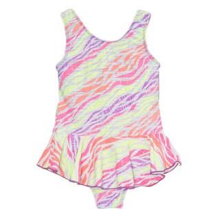 Dippin Daisy's Multi-colored Zebra Girl's One Piece Swimdress