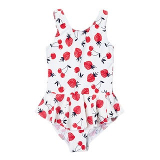 Dippin Daisy's Girl's Strawberry One-Piece Swimdress