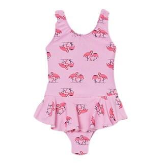 Dippin Daisy's Pink Flamingo Girl's One Piece Swimdress