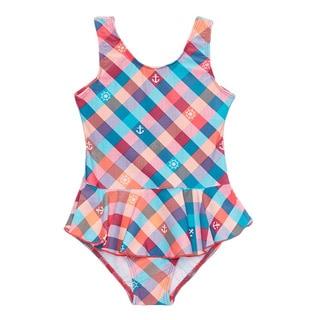 Dippin Daisy's Multi Anchor Girl's One Piece Swimdress
