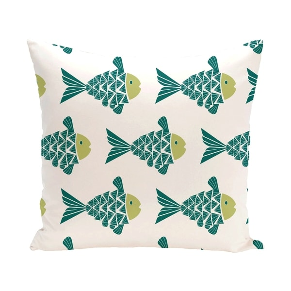 Fish Tales Animal Print 14 x 20-inch Outdoor Pillow