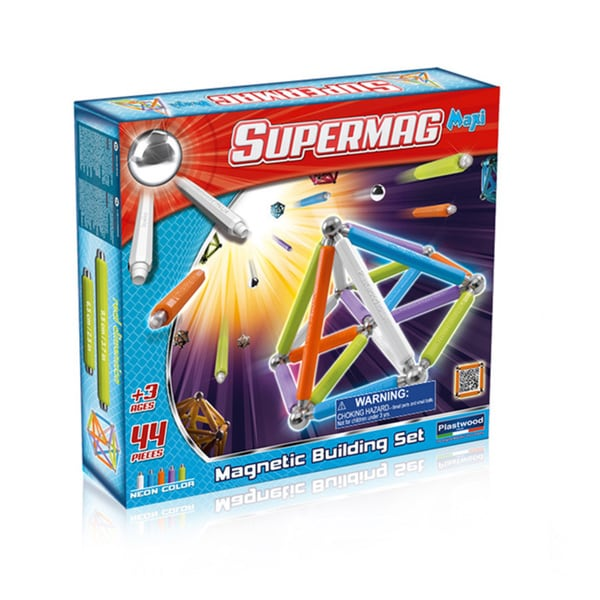 Supermag Maxi Neon 44 Magnetic Building Set