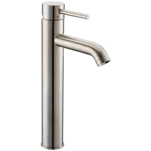 Dawn Single-Lever Tall Curved Spout Lavatory Brushed Nickel Faucet