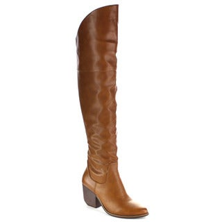 MI.IM Women's 'Victoria-01' Soft Slouchy Over-the-Knee Riding Boots