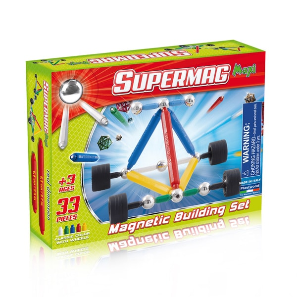 Supermag Maxi Wheels 35 Magnetic Building Set