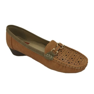 Women's Faux Leather Wedge Driving Moccasins