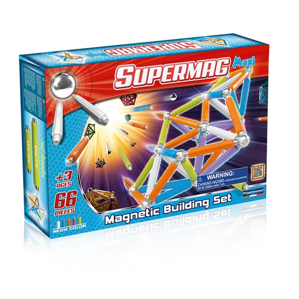 Supermag Maxi Neon 66 Magnetic Building Set