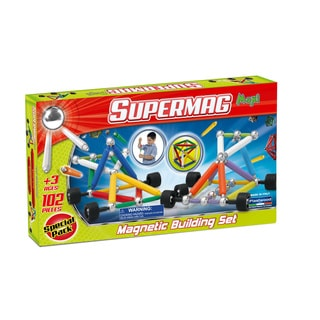 Supermag Maxi Wheels 102 Magnetic Building Set
