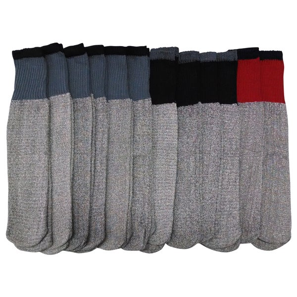 Excell Men's Wool Tube Socks - 12-Pack
