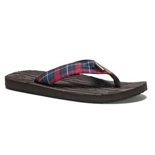 Muk Luks Men's Brown Asher Flip Flops