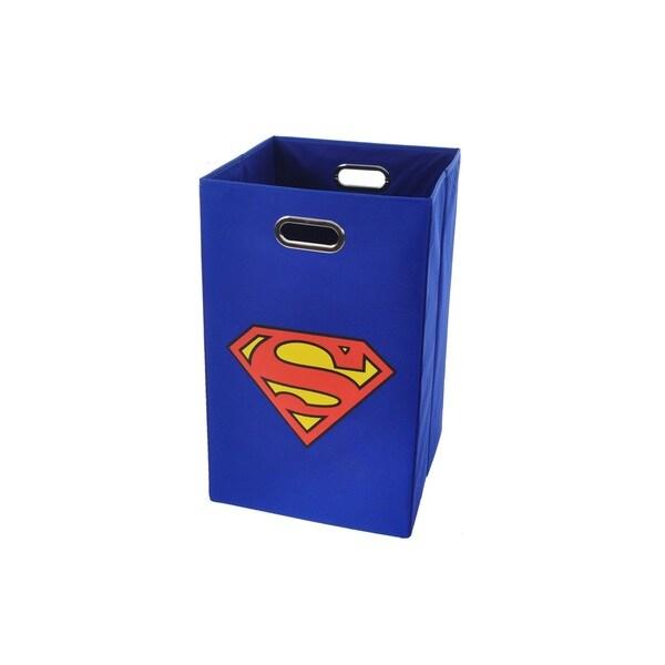 Superman Logo Blue Folding Laundry Basket