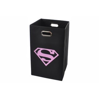 Superman Logo Pink Folding Laundry Basket