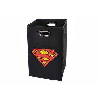 Superman Logo Black Folding Laundry Basket