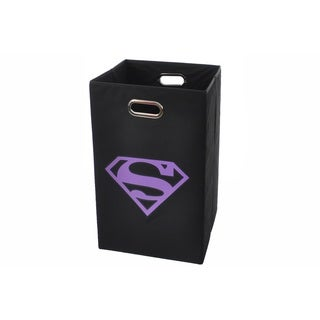 Superman Logo Purple Folding Laundry Basket