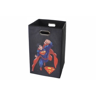 Superman Black Folding Laundry Basket